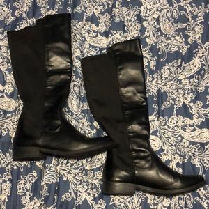 Rampage Black faux leather knee length boots